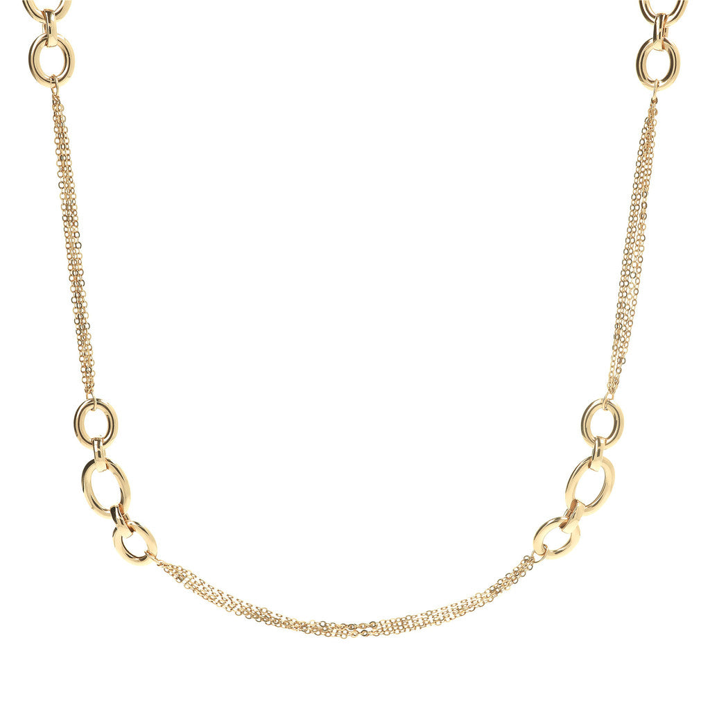 COLLANA FORZATINA LUNGA YELLOW GOLD