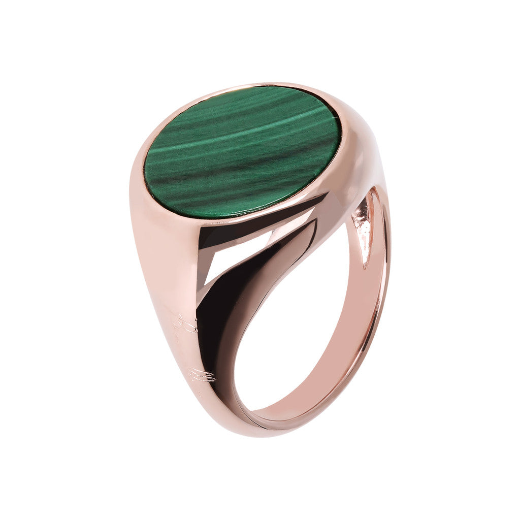 Anello Chevalier Piccolo con malachite