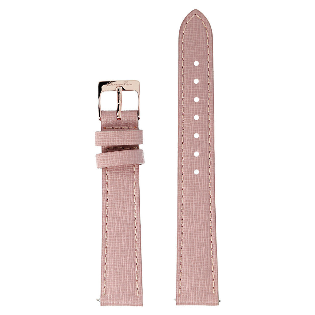 Cinturini Pelle Orologio Donna Alba Medio con ROSE LEATHER