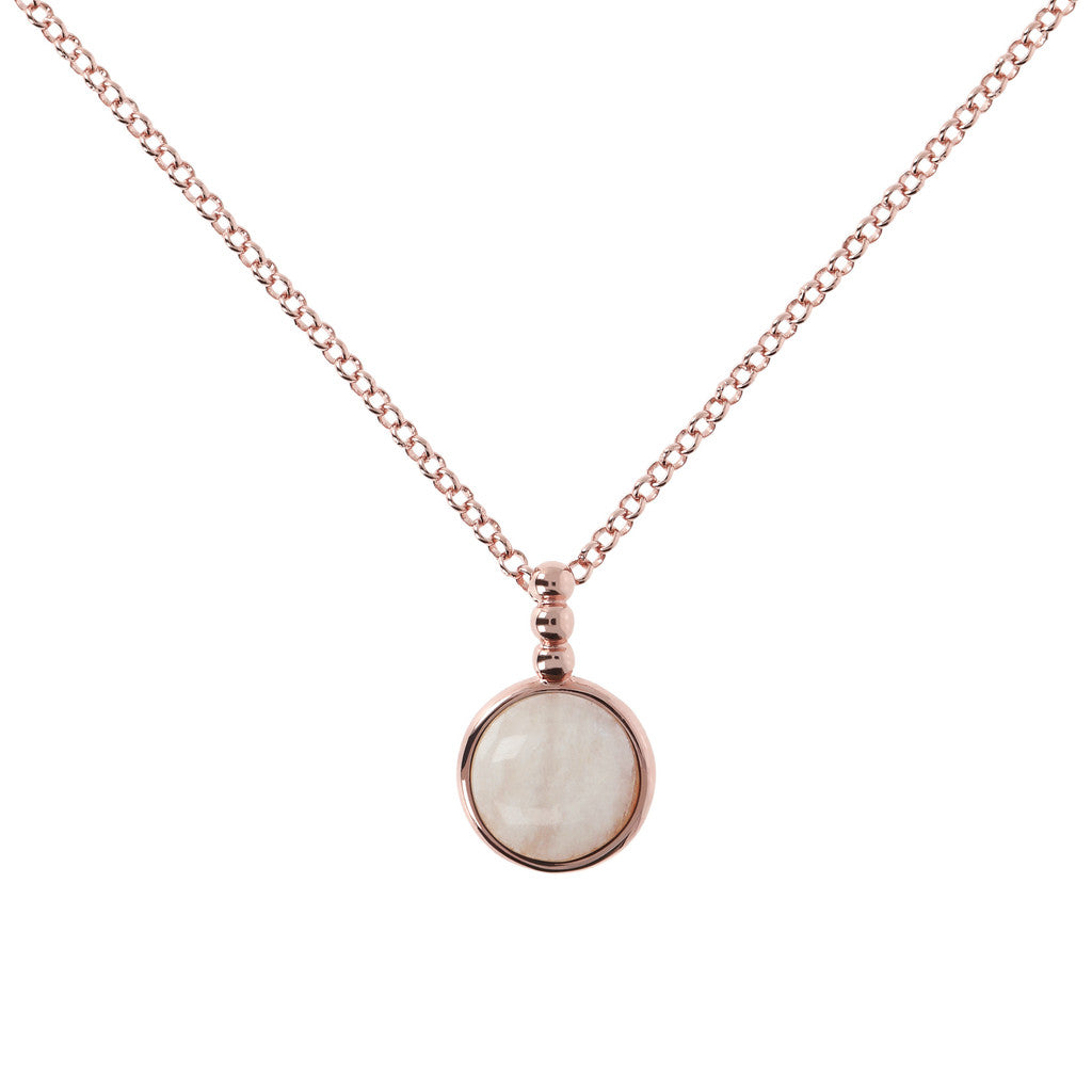 Collana Cabochon con WHITE MOONSTONE