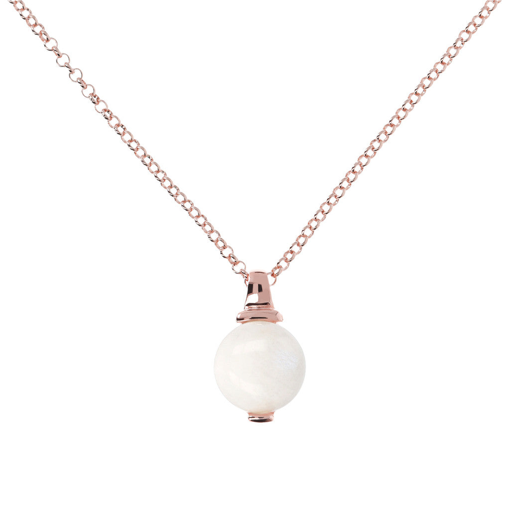 Collana Eleganza con WHITE MOONSTONE