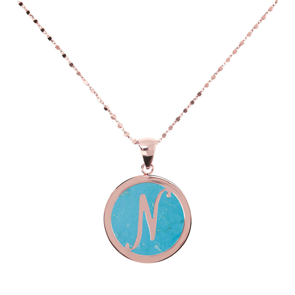 Collana con Mini Lettera in Magnesite con MAGNESITE-N