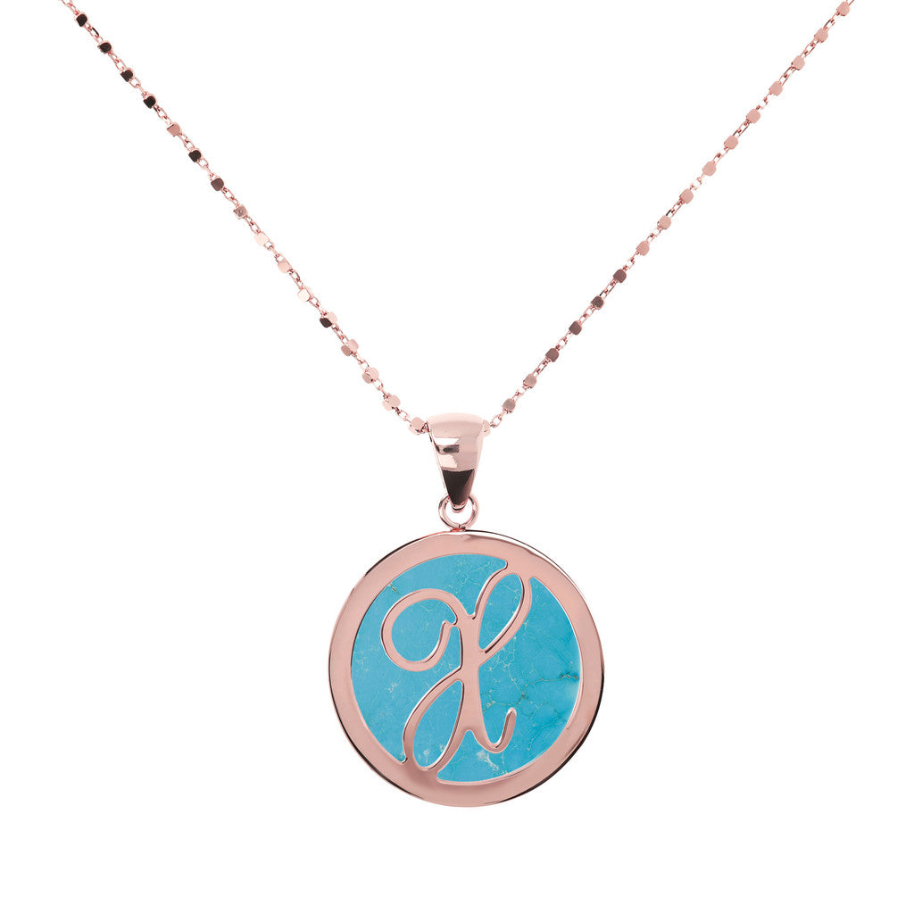 Collana con Mini Lettera in Magnesite con MAGNESITE-X