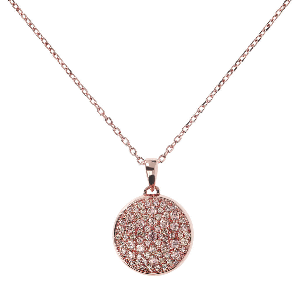 Collana Pave Bombato con MORGANITE