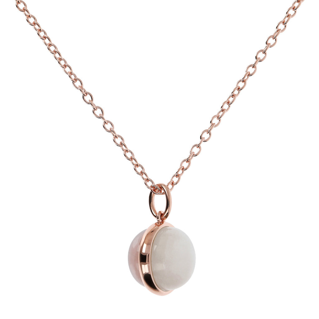 Collana Rolo Pietre Dure Pastello con WHITE MOONSTONE