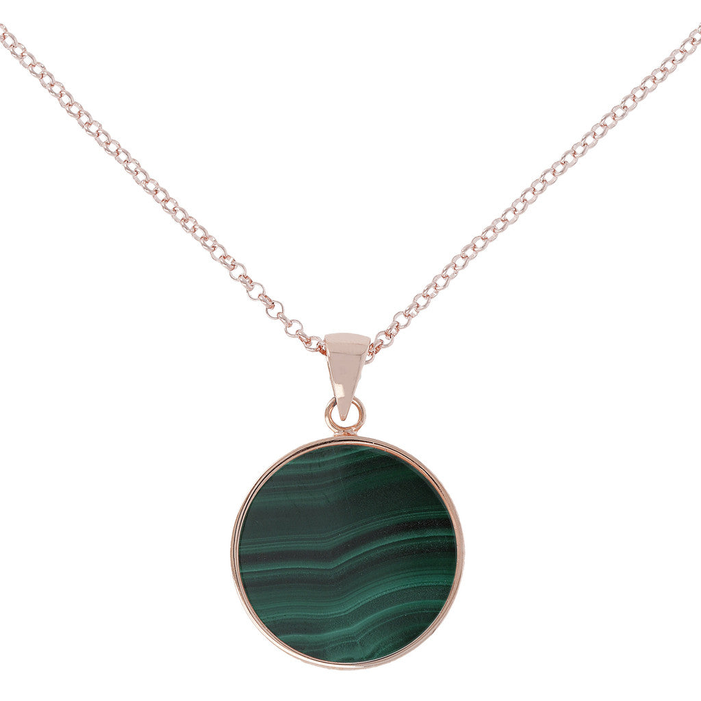Bronzallure | Collane | Collana Disco Medio Malachite