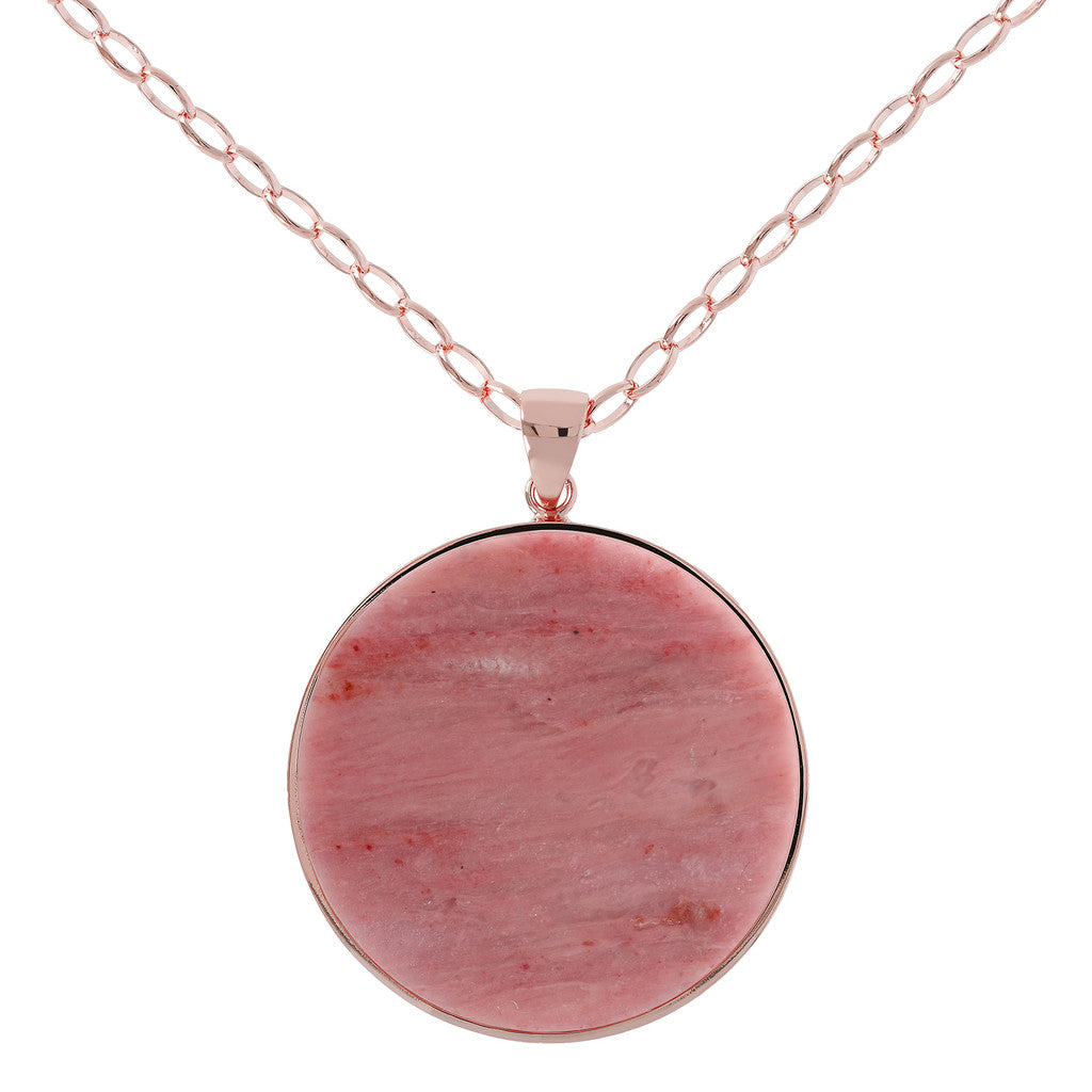 Bronzallure | Collane | Collana Disco Red Fossil Wood