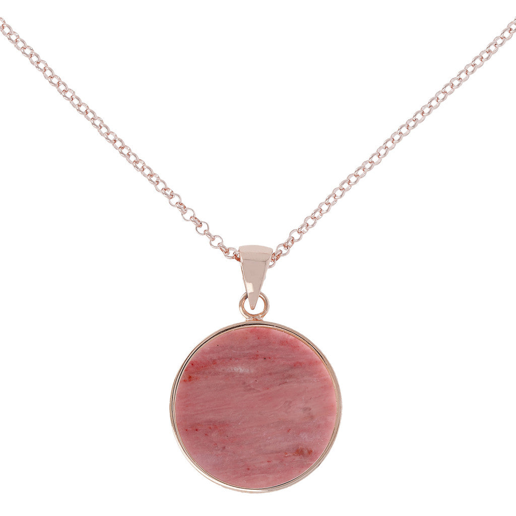 Bronzallure | Collane | Collana Disco Medio Red Fossil Wood