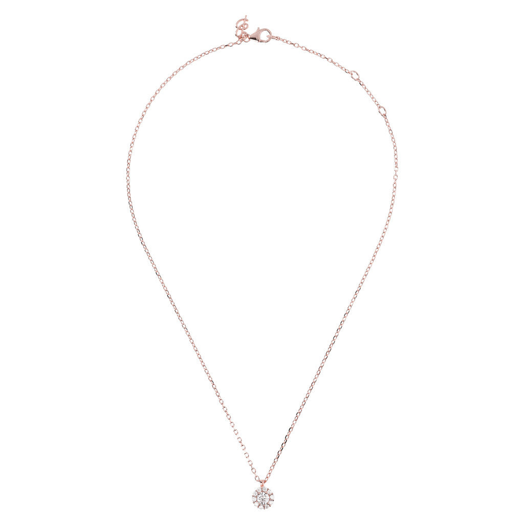 Collier Punto Luce Cubic Zirconia e Golden Rose intero