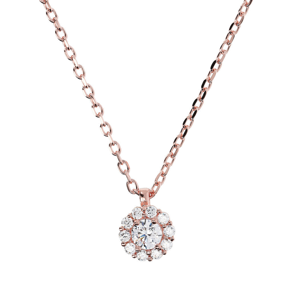 Collier Punto Luce Cubic Zirconia e Golden Rose