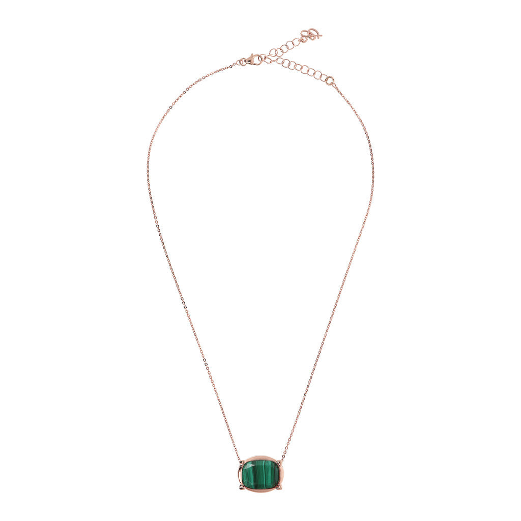 INCANTO VARIEGATA SQUARED PENDANT WITH HEART GRIFFES - MALACHITE - WSBZ01532 intero