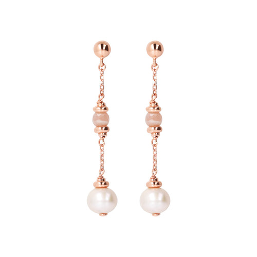 MAXIMA VARIEGATA Moonstone and pearl eARRING - WSBZ01688