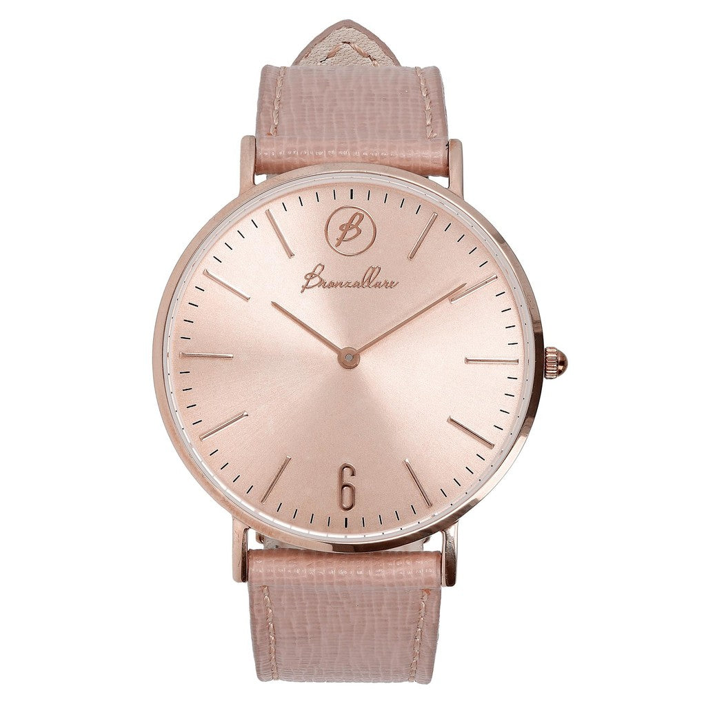 Orologio Indici Quadrante Rosa con ROSE LEATHER