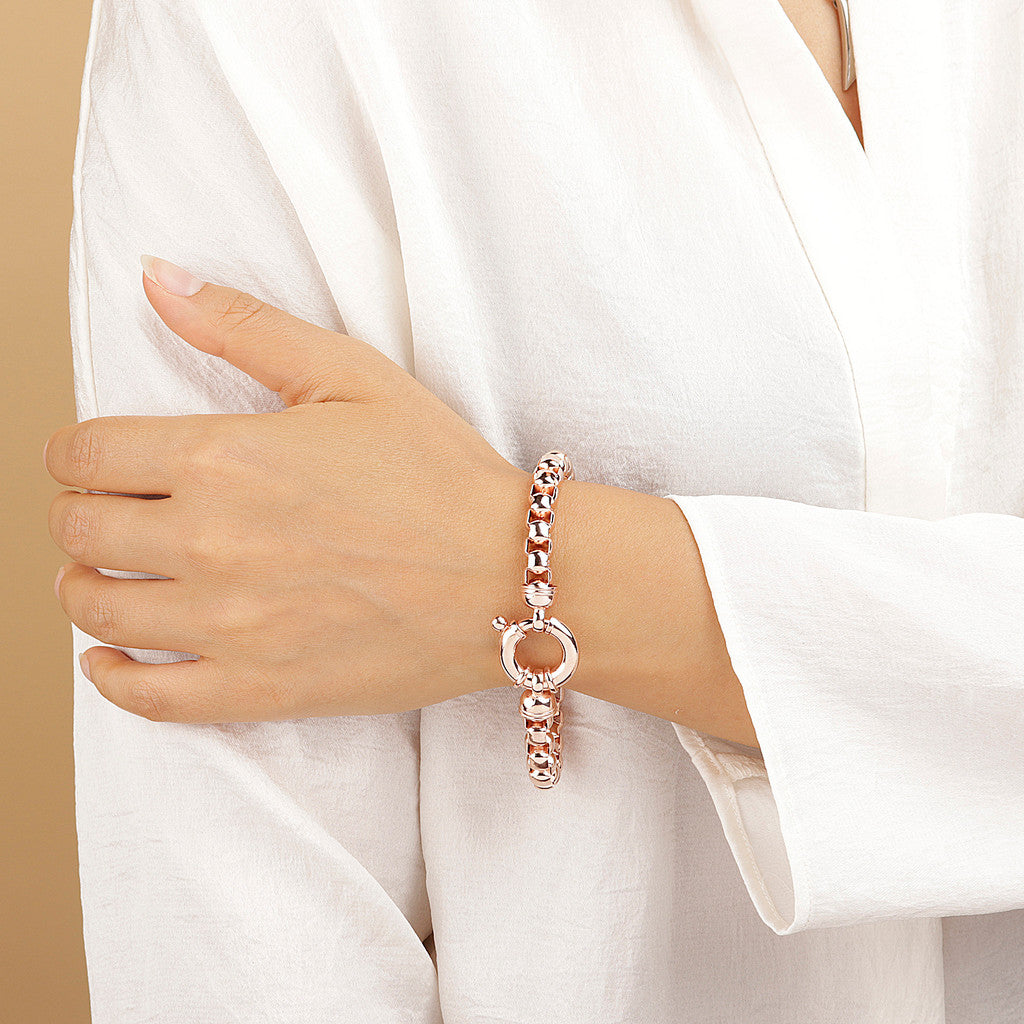 PUREZZA BOX BRACELET WITH BOLD SPRING RING - WSBZ01654 indossato