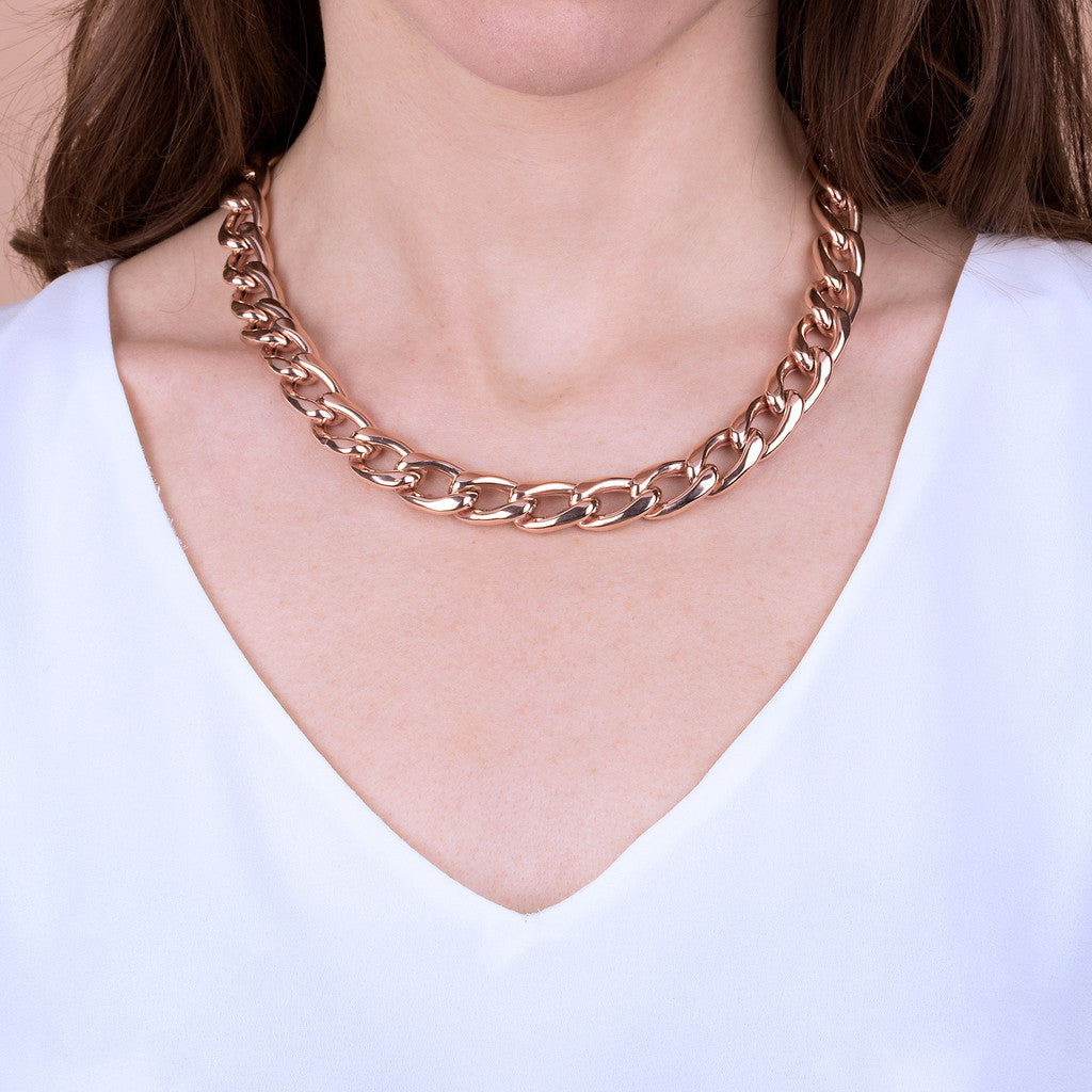 PUREZZA CURB necklace - WSBZ01776 indossato
