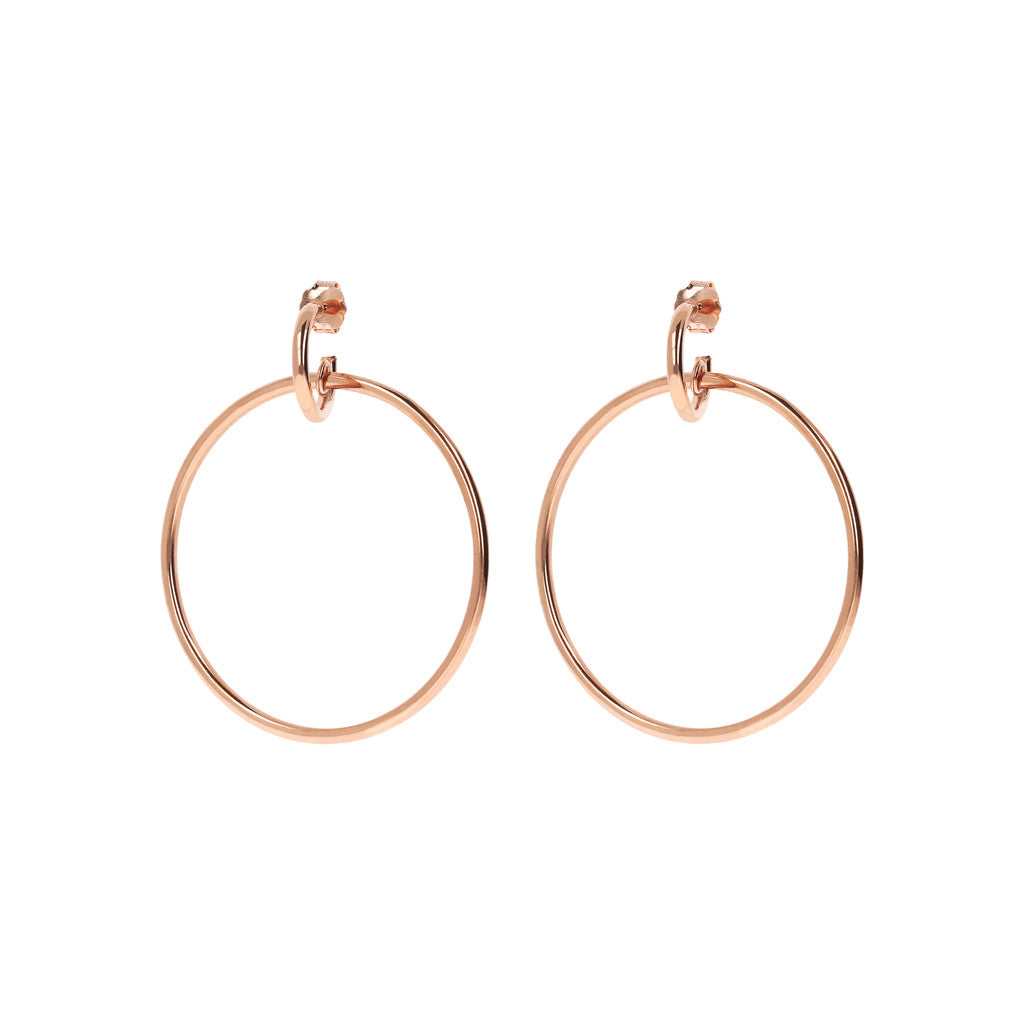 PUREZZA SHINY HOOP EARRINGS - WSBZ01538