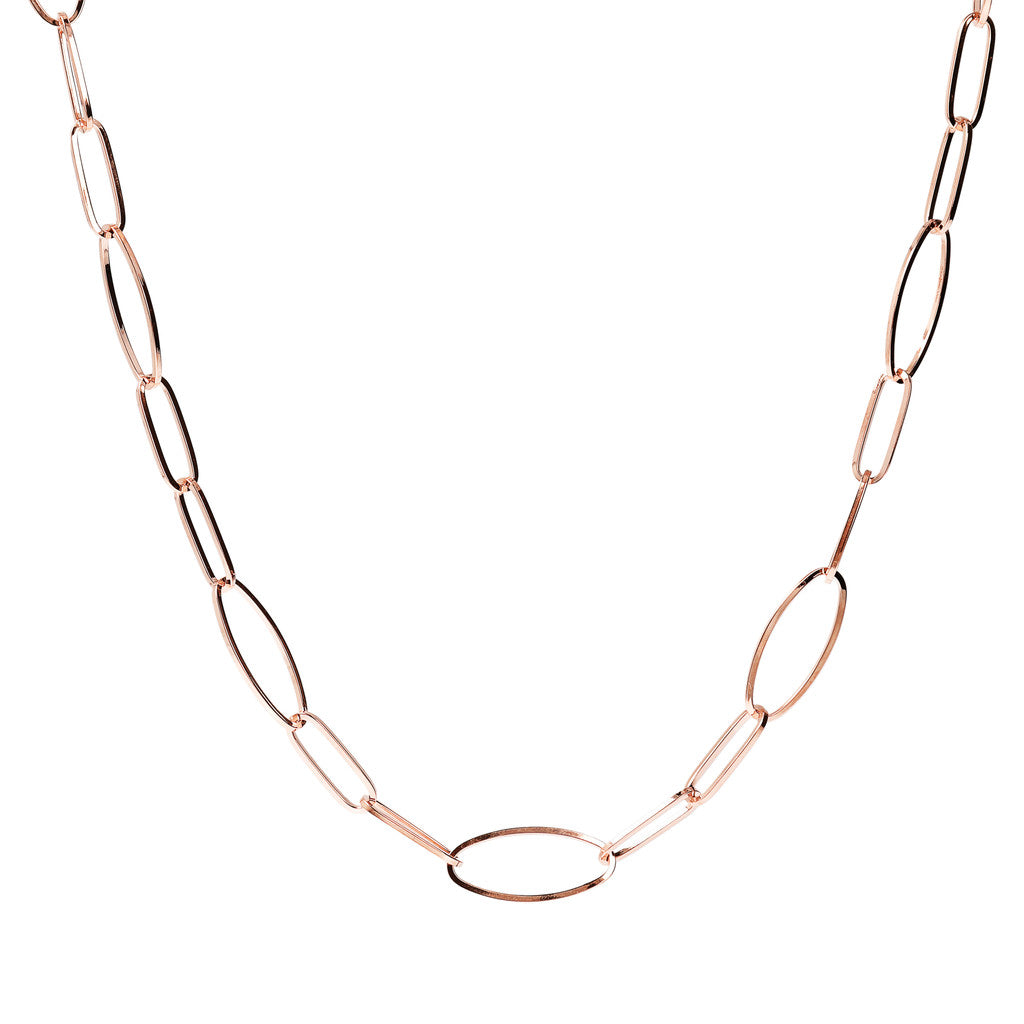 PUREZZA SHINY OVAL LINK NECKLACE - WSBZ01640
