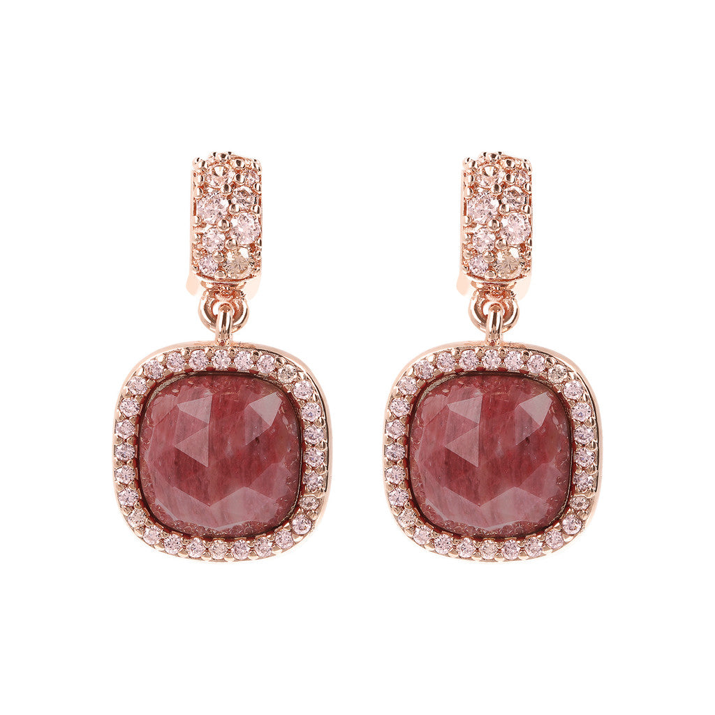Ricercate visioni  con RED FOSSIL WOOD + MORGANITE CZ
