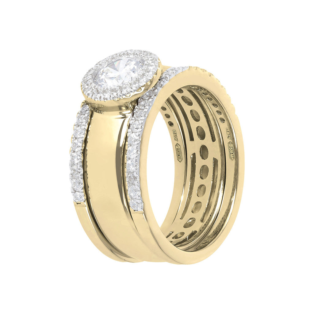 Set Solitario e Fedine CZ Bronzallure Yellow Gold