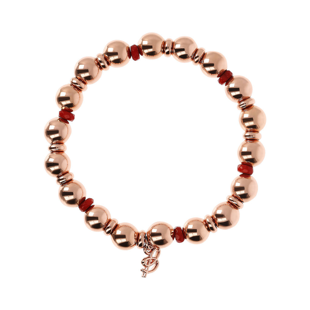 maglia del VARIEGATA STRETCHABLE BRACELET WITH GEMSTONE AND BEADED - WSBZ01798 con BAMBOO CORAL