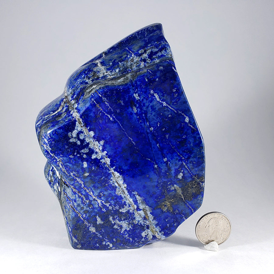 Large Freeform Carved Lapis Lazuli from Afghanistan