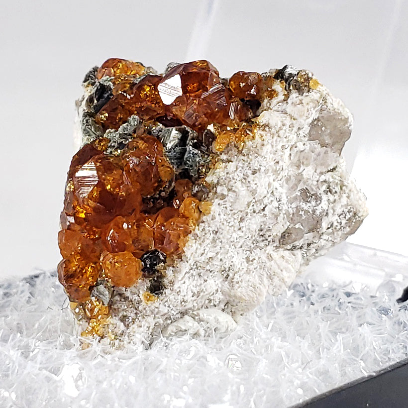Spessartine Garnet Cluster from Fujian Province, China
