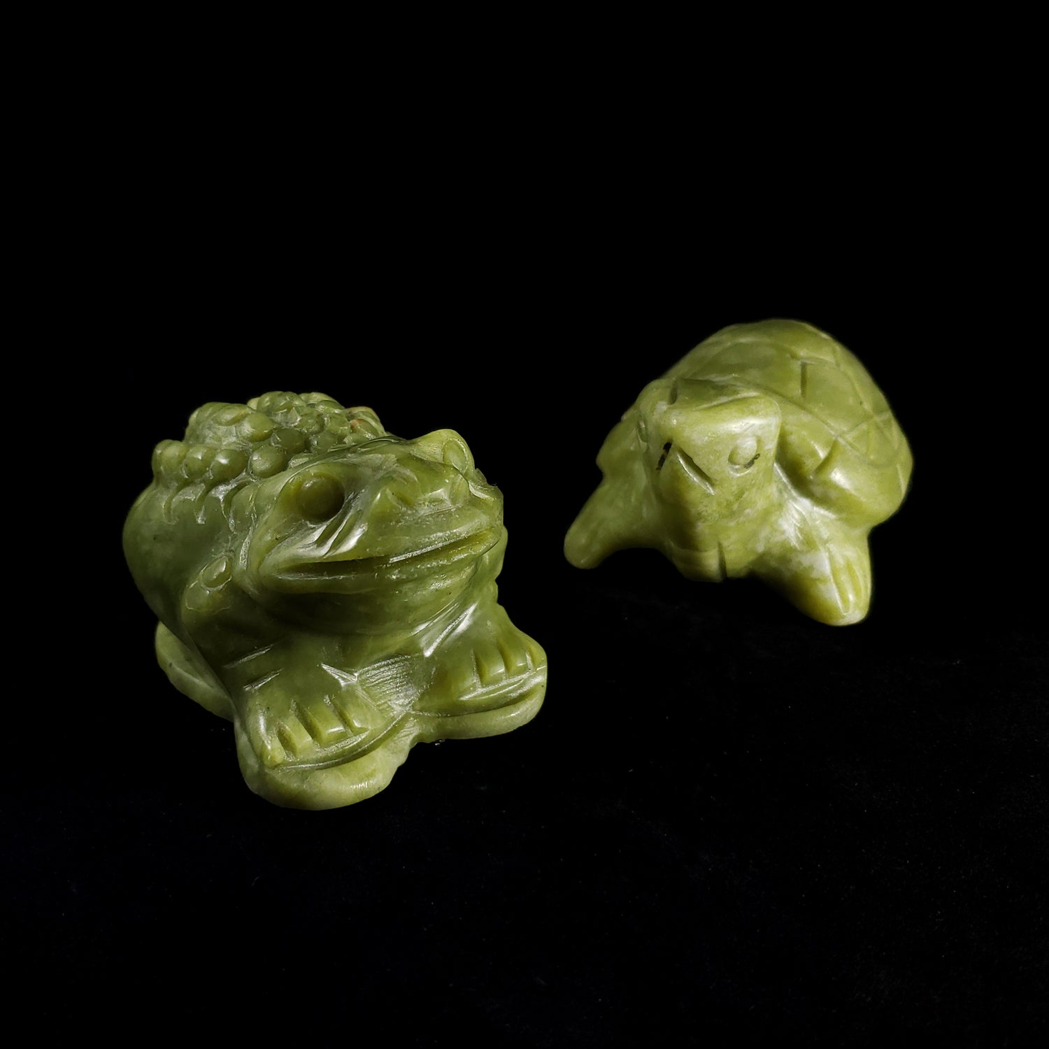 Carved Jadeite Animals