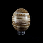 Striped Aragonite Egg Carving