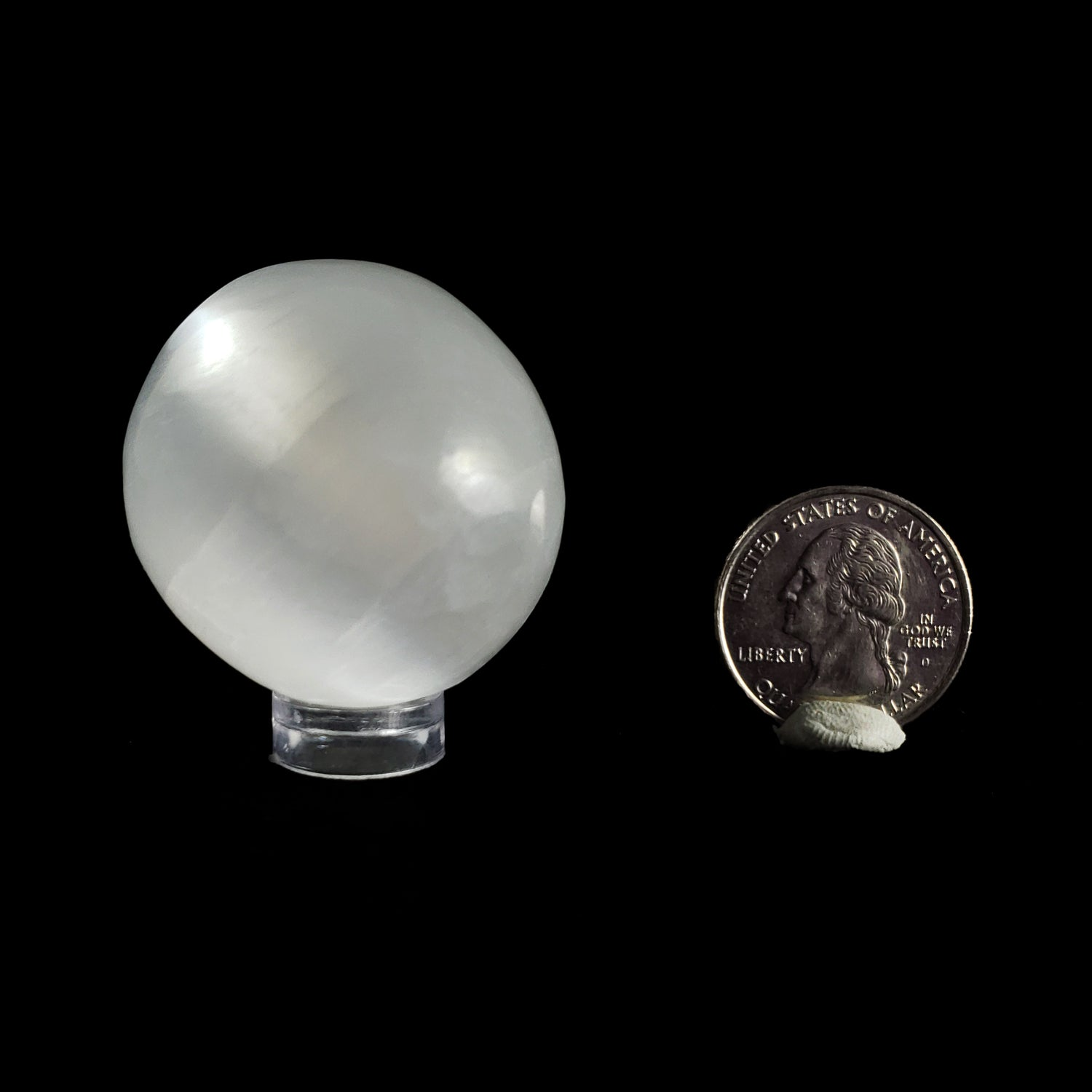 Small Carved Selenite Sphere
