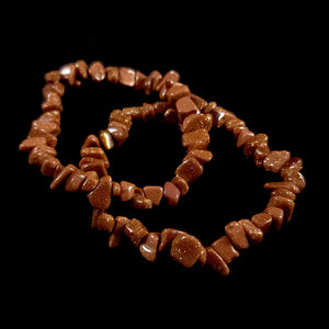 Goldstone Chip Bead Bracelet