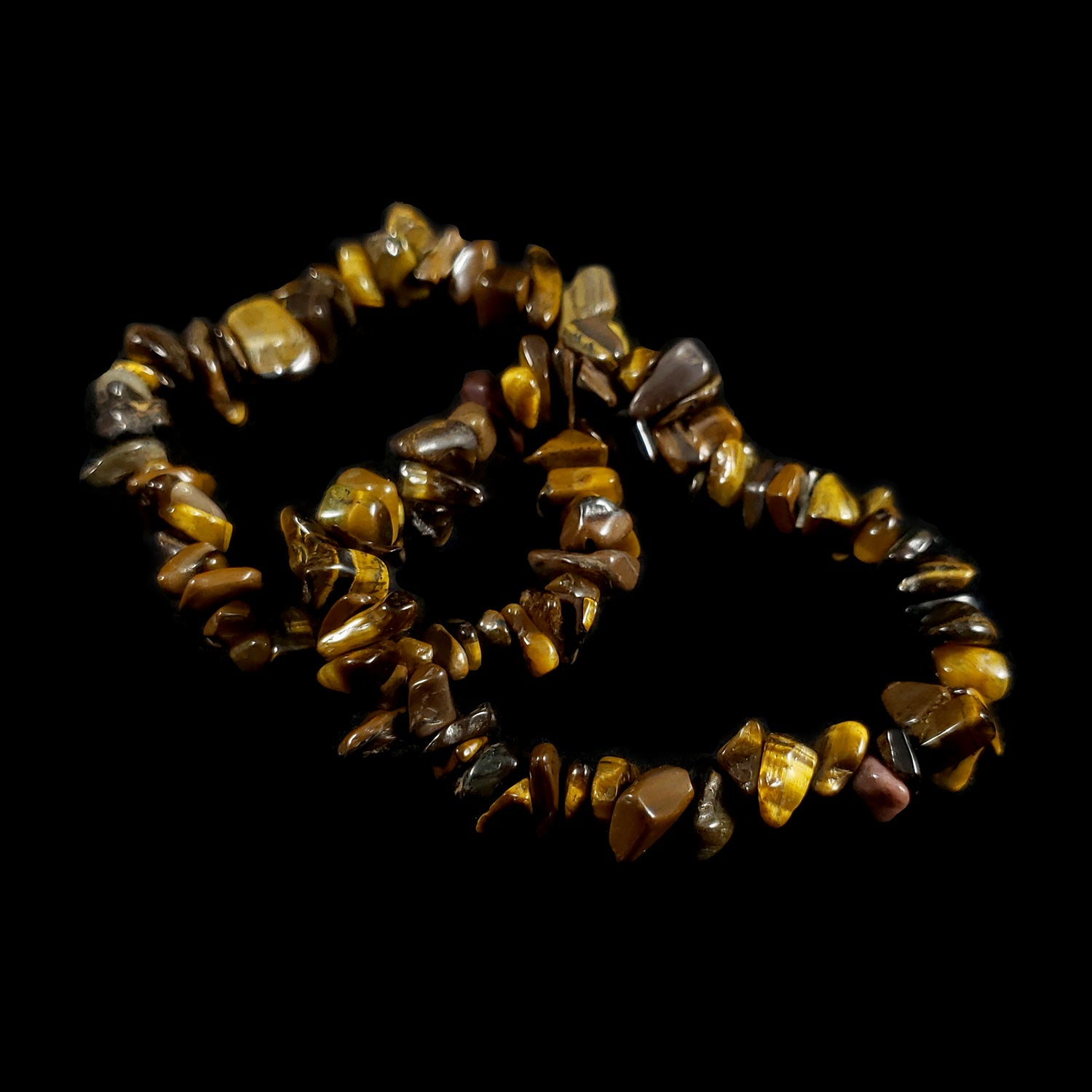 Tiger's Eye Chip Bead Bracelet
