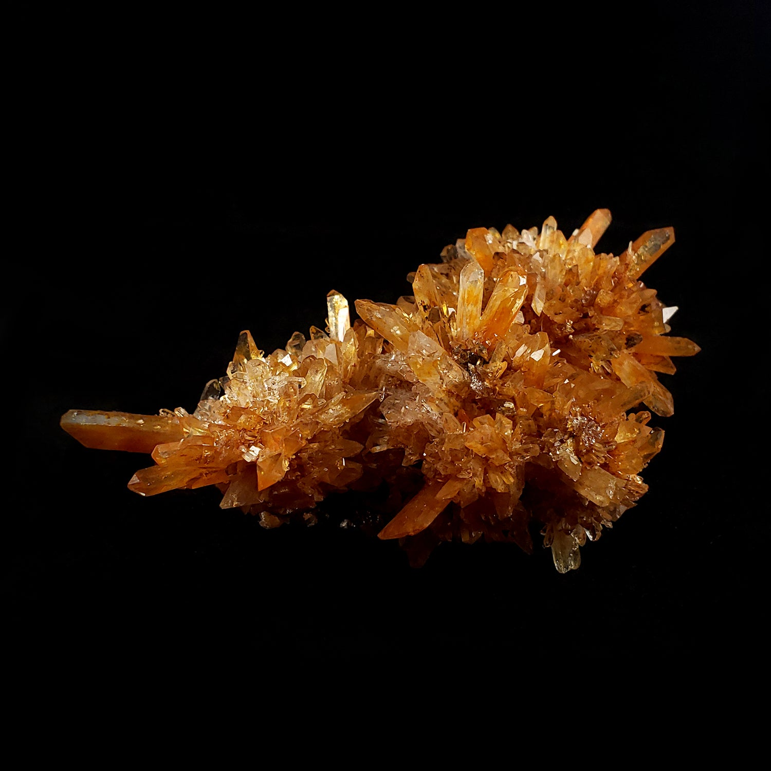 Orange Creedite from Navidad Mine, Durango, Mexico