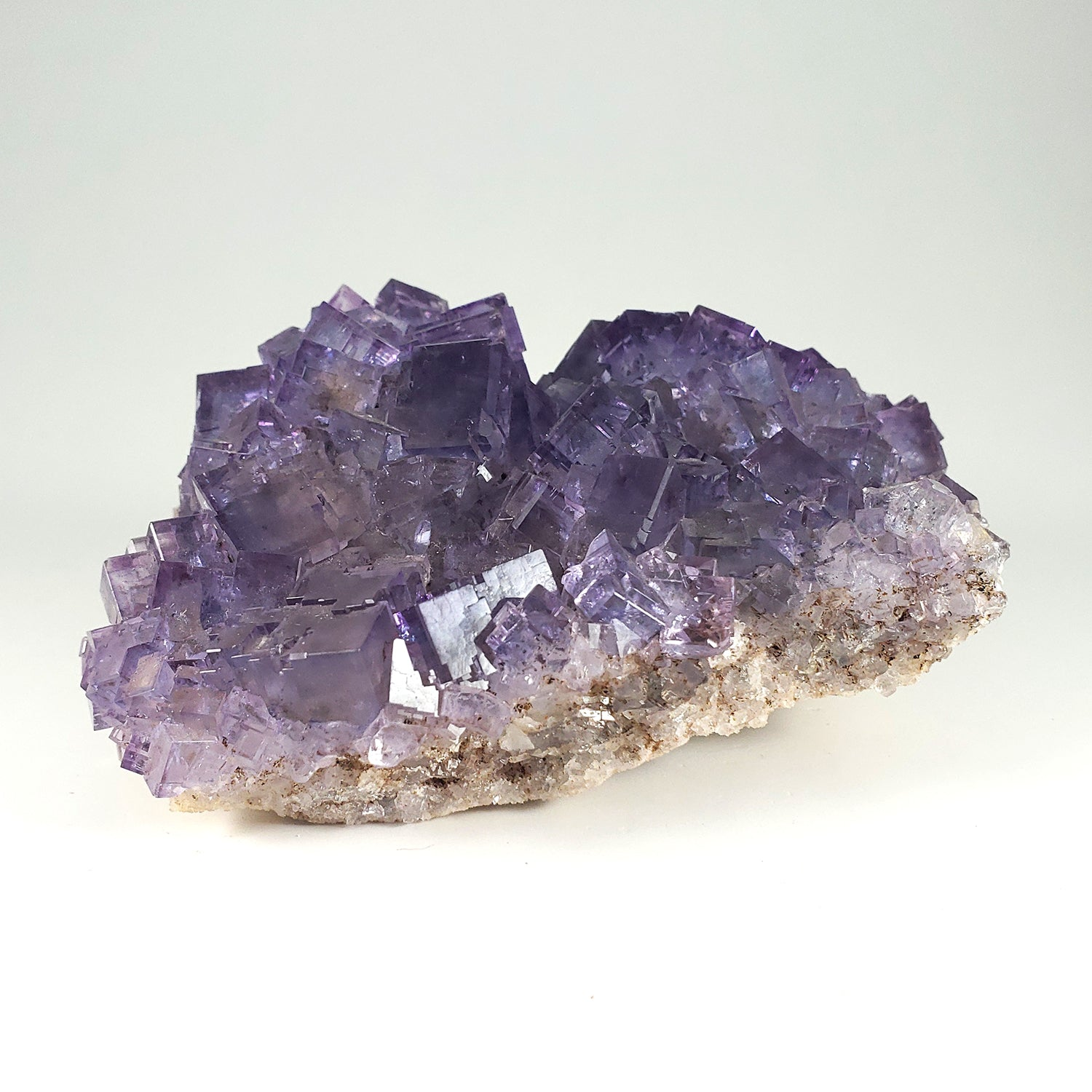 Cubic Purple Fluorite Specimen from Berbes Mining Area, Spain