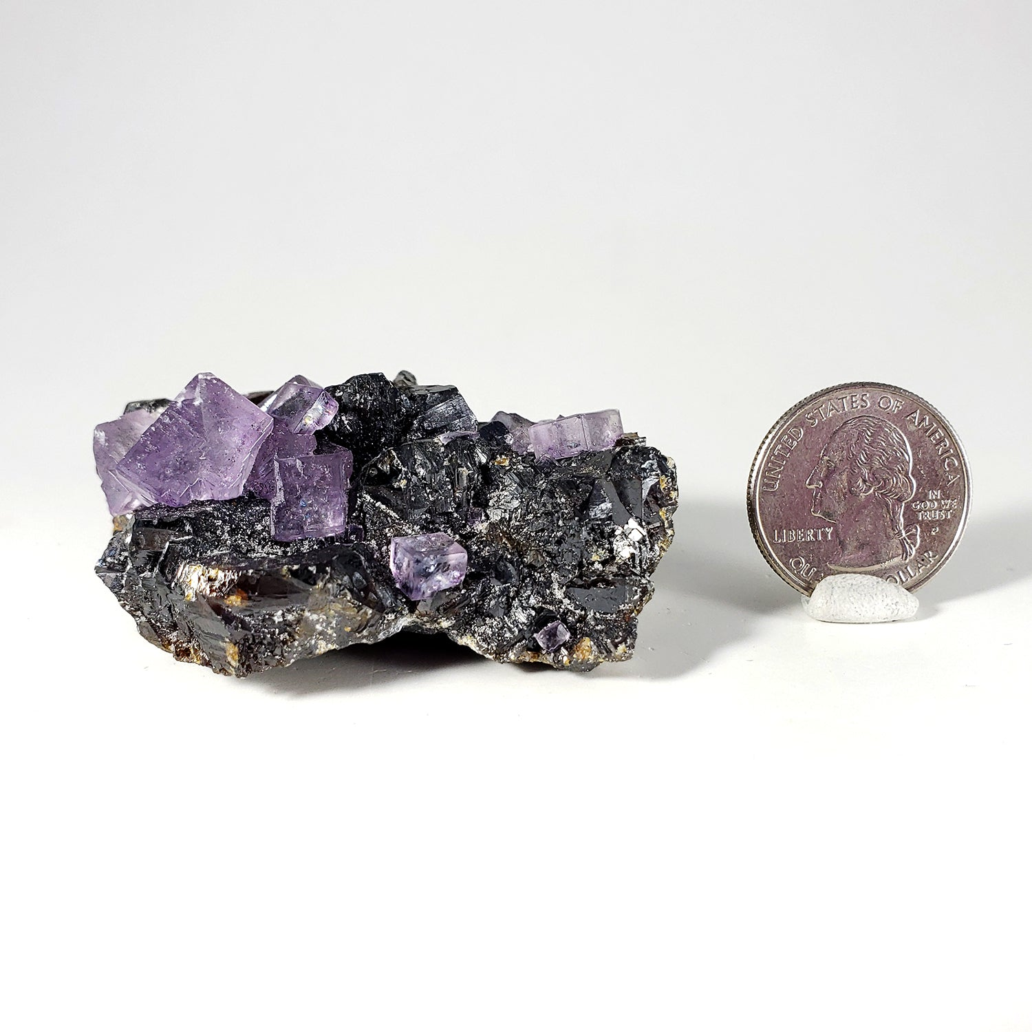 Fluorite on Sphalerite from Elmwood Mine, Carthage, Tennessee