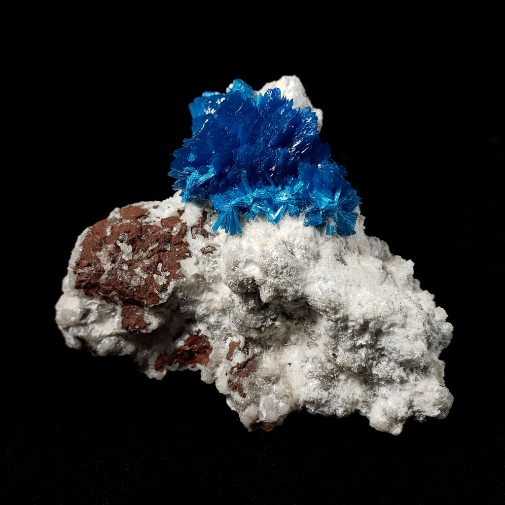 Cavansite on Heulandite in Matrix from Poona, India