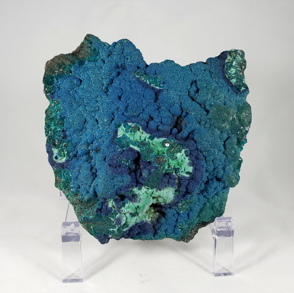 Cornetite with Malachite and Chrysocolla from the Democratic Republic of Congo