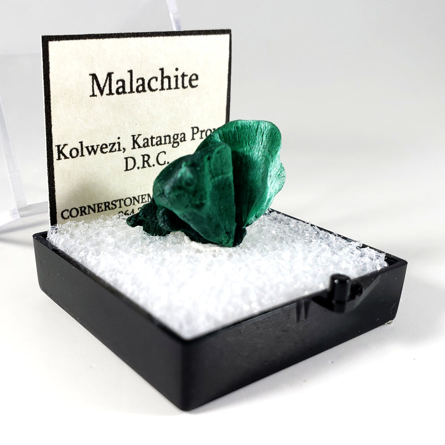 Fibrous Malachite Thumbnail Specimen from Katanga Province, Democratic Republic of Congo