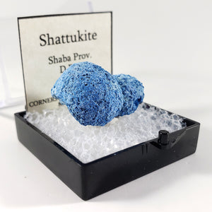 Shattuckite Thumbnail Specimen from Shaba Province, Democratic Republic of Congo