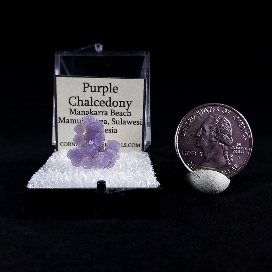 Purple Chalcedony 'Grape Agate' Thumbnail Specimen from Sulawesi, Indonesia