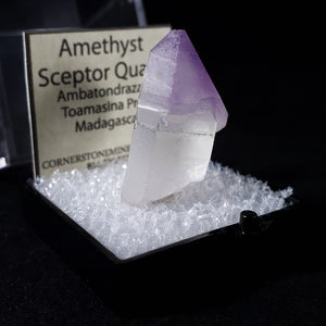 Amethyst Scepter Thumbnail Specimen from Toamasina Province, Madagascar