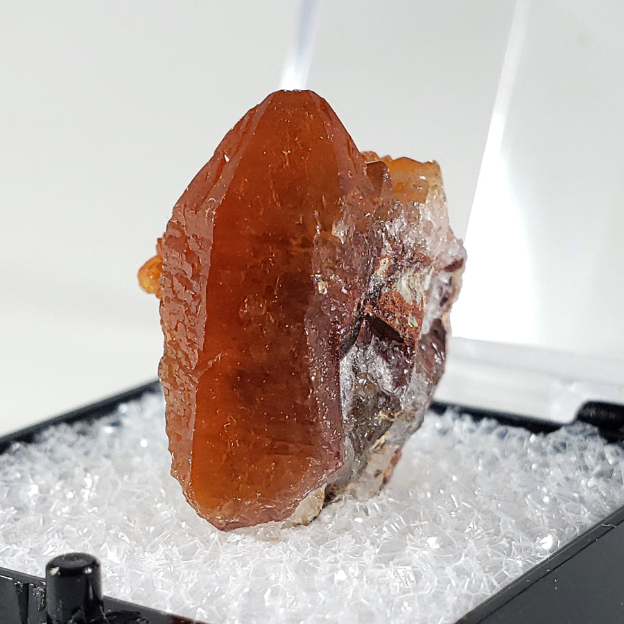 Red Quartz Thumbnail Specimen from Tarya Mine, Morocco