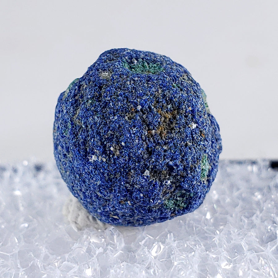 Azurite 'Blueberry' Concretion Thumbnail Specimen from La Sal, Utah