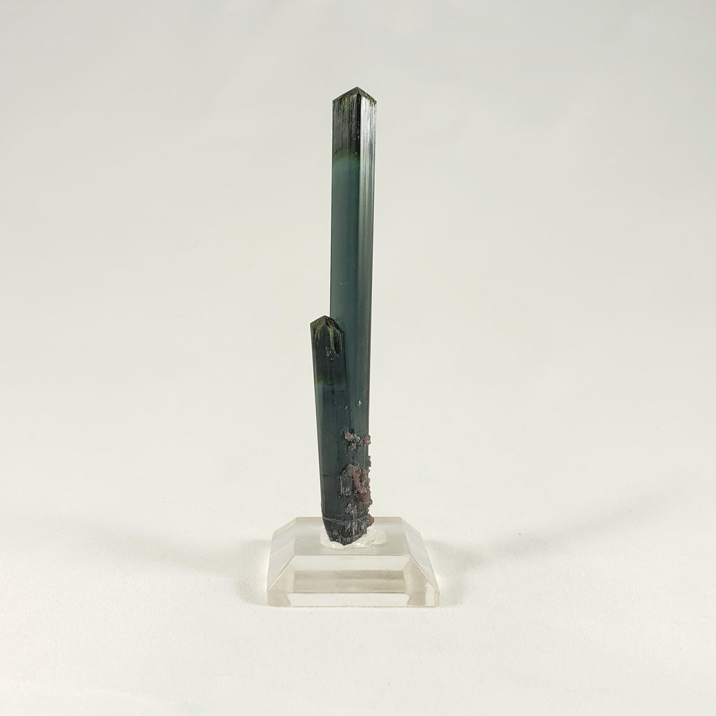 Dark Green Tourmaline with Lepidolite Dusting from Minas Gerais, Brazil
