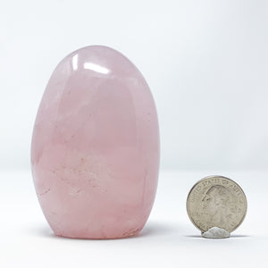 Polished Rose Quartz Freeform from Minas Gerais, Brazil