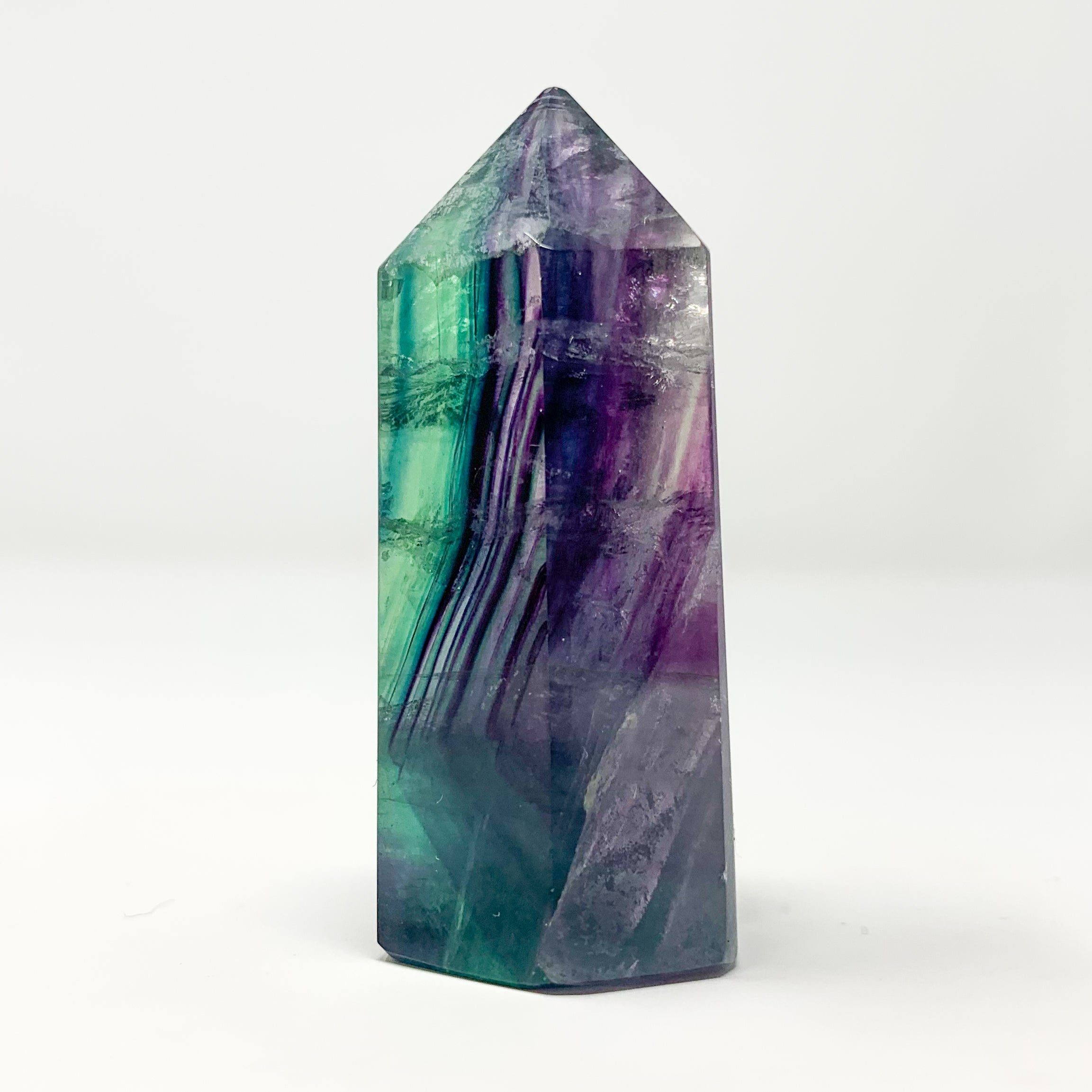 Rainbow Fluorite Point from Hunan Province, China