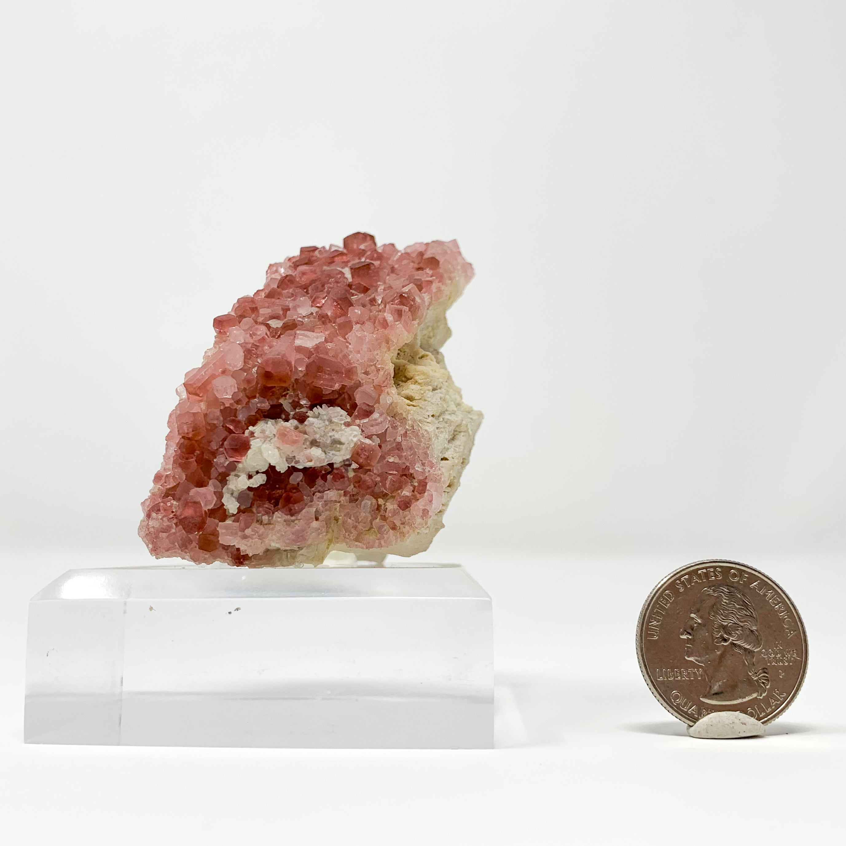 Pink Tourmaline on Feldspar from Pyi Gyi, Taung Mountain, Myanmar