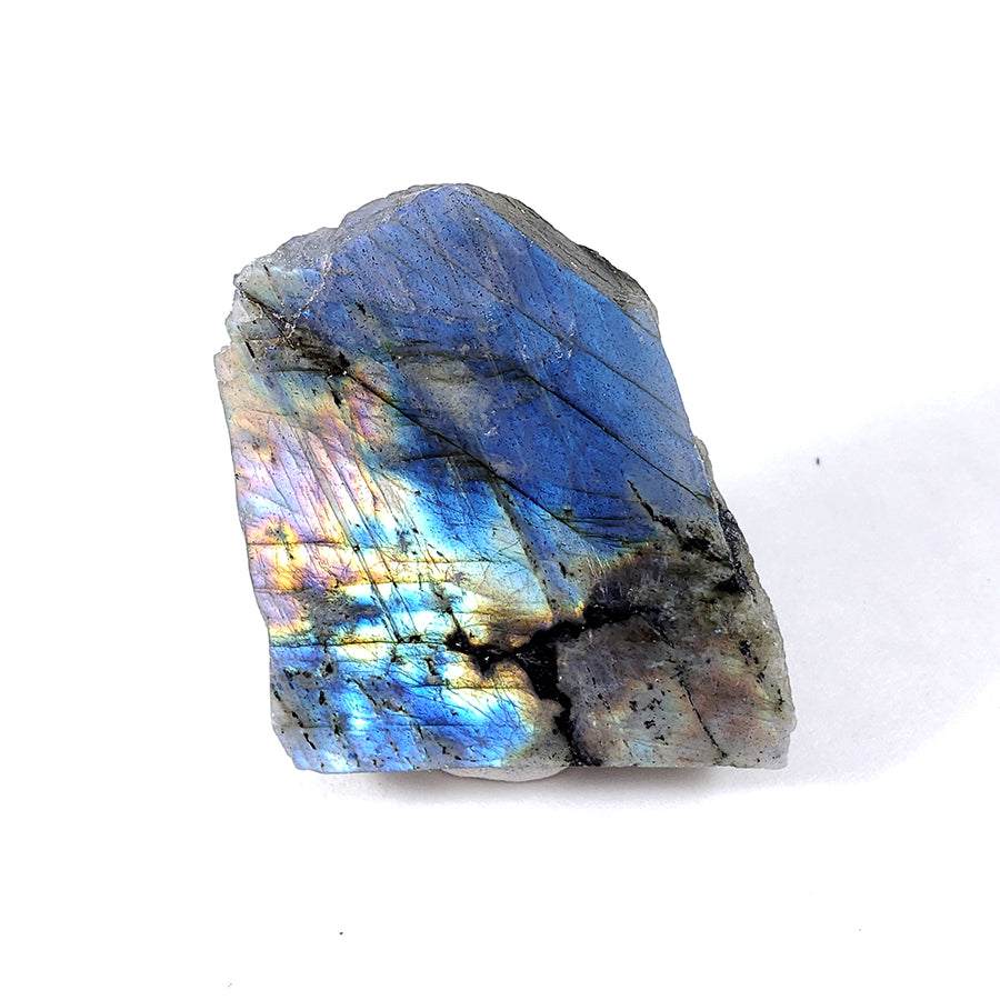Labradorite Slice with Polished Side from Madagascar
