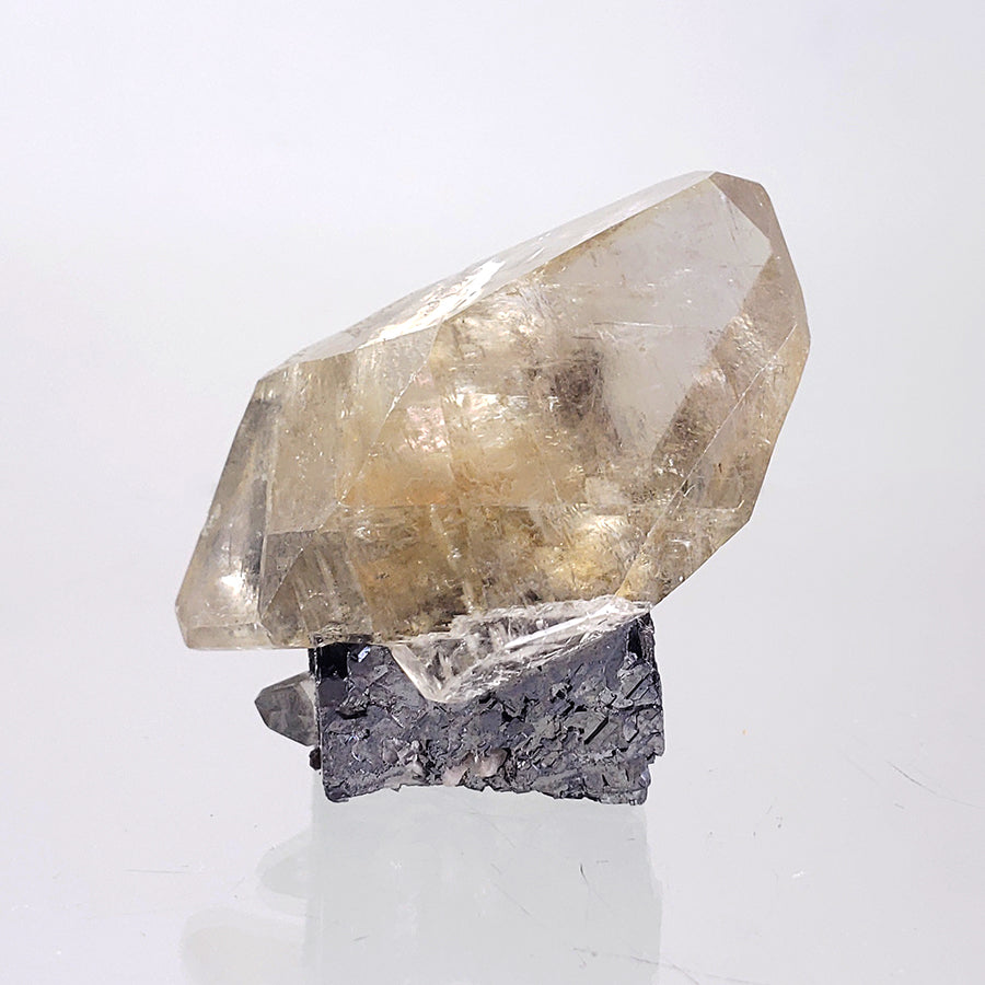 Calcite on Galena from Fletcher Mine, Reynolds County, Missouri