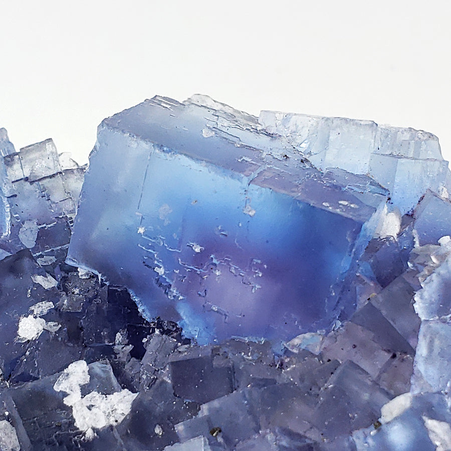 Blue and Purple Fluorite from Minerva Mine #1, Cave-In-Rock, Illinois
