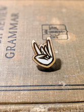 'Rock On' ENGRAVED WOOD PIN